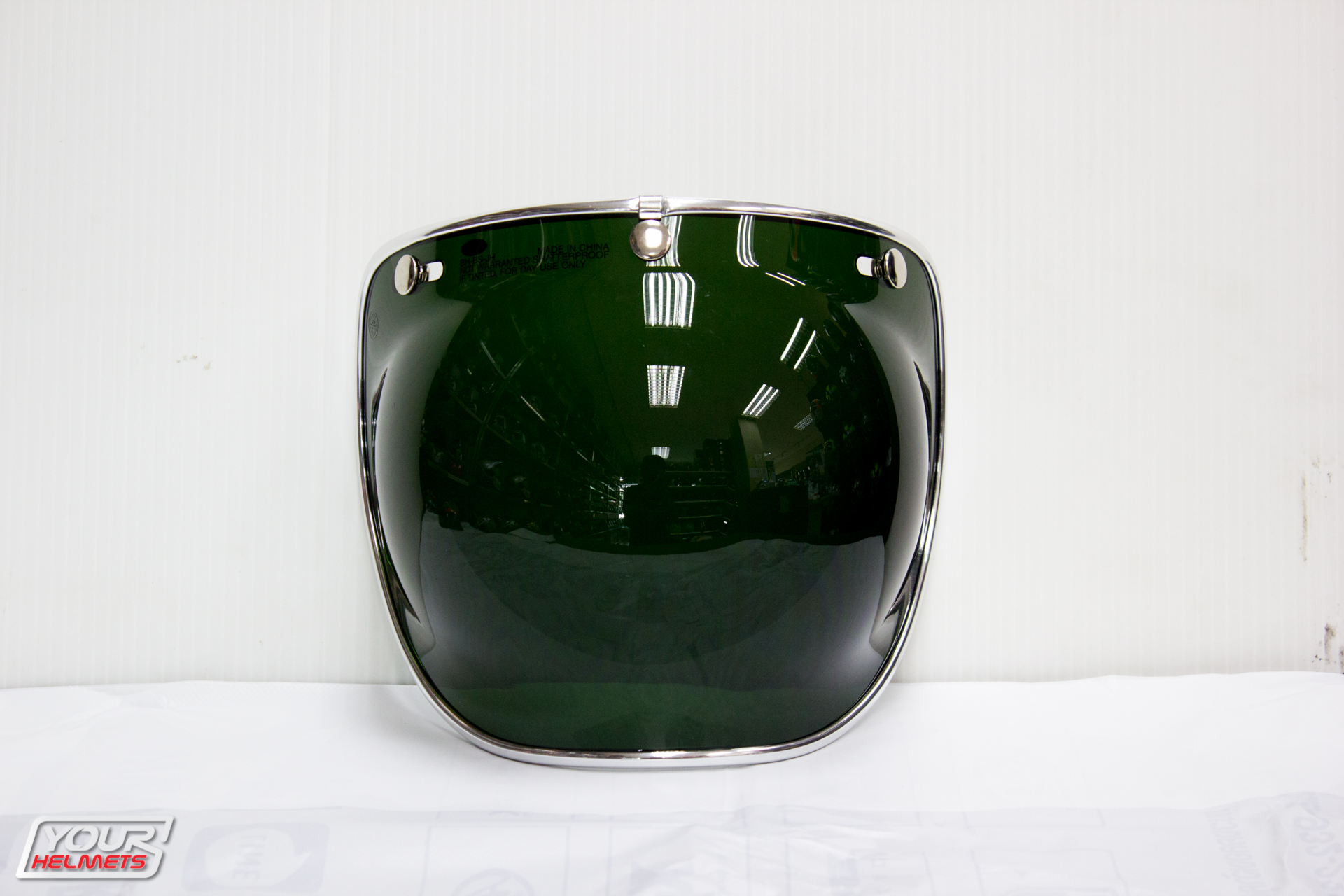 VISOR BELL 3-SNAP BUBBLE DELUXE SHIELD WAYFARER GREEN