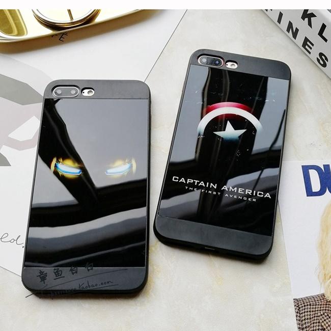 [120-012]เคสมือถือไอโฟน Case iPhone 7 Plus เคสนิ่มสไตล์ยุโรปแบรนด์ Captain America