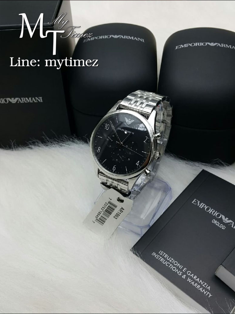 นาฬิกาข้อมือ Emporio Armani Men's Chronograph Watch Classic Analog AR1863