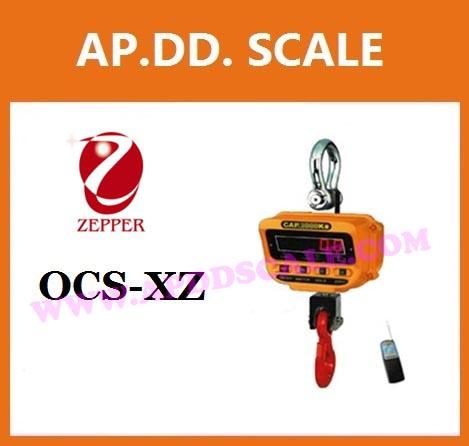 เครื่องชั่งดิจิตอล เครื่องชั่งแขวน 15ตัน ละเอียด 5kg พร้อมรีโมทคอนโทรล ZEPPER SCALE OCS-XZ 15000kg/5kg (ผ่านการตรวจรับรองจากสำนัก ชั่ง ตวง วัด)