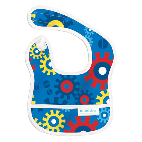 Bumkins ผ้ากันเปื้อนกันน้ำ รุ่น Starter Bib -สี น้ำเงิน สำหรับน้อง 3-9 เดือน