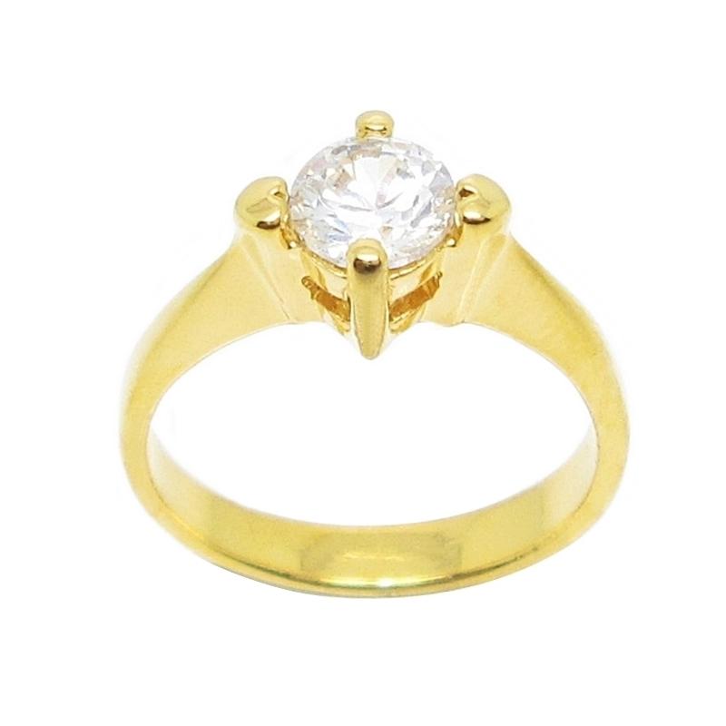 แหวนประดับเพชรกะรัตชุบทอง