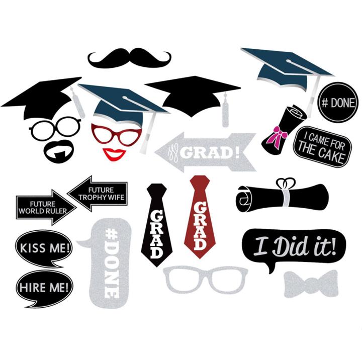 พร็อพถ่ายรูป, ป้ายคำพูด, ป้ายพร็อพถือถ่ายรูป, ป้ายพร็อพติดไม้ - งานรับปริญญา (Graduation)