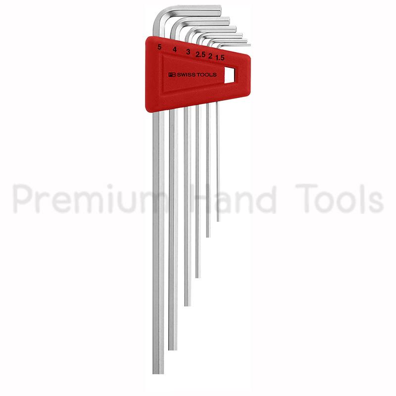 หกเหลี่ยมชุด PB Swiss Tools หัวตัด ยาว รุ่น PB 211 H-5 (6 ตัว/ชุด)