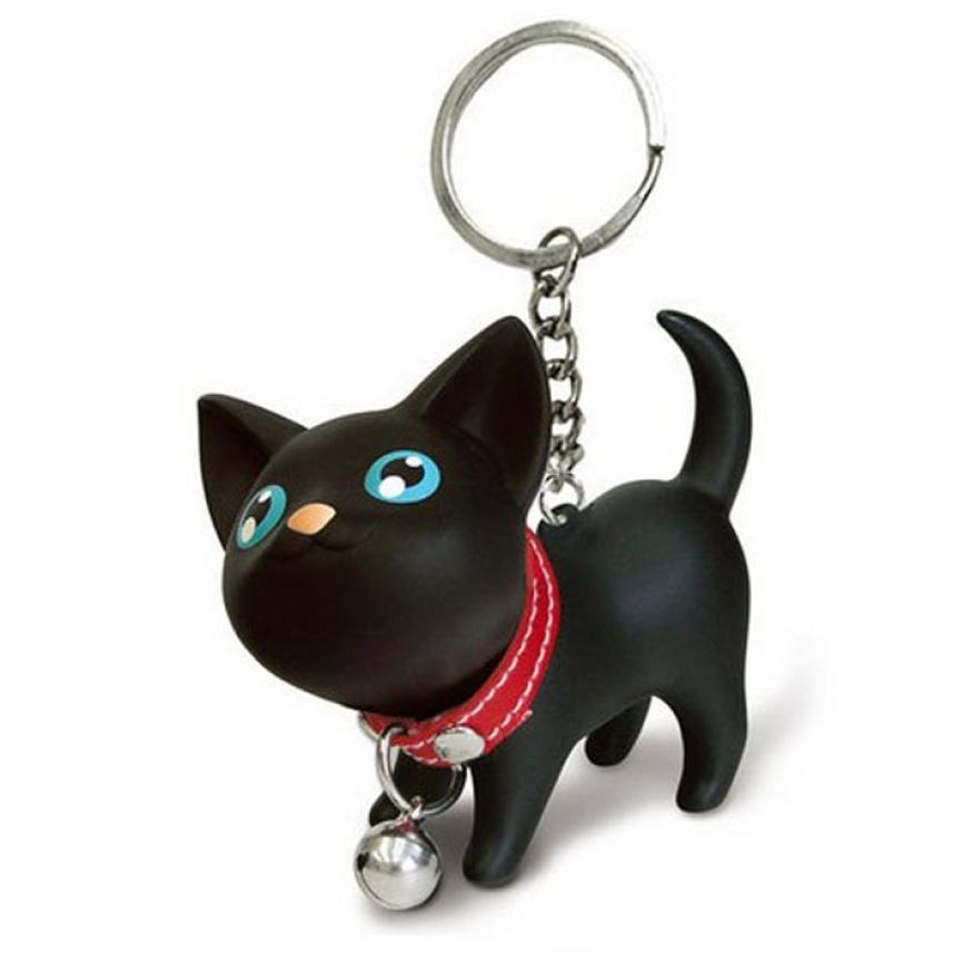 ตุ๊กตาแมวสีดำ พวงกุญแจ ตัวห้อยกระเป๋า