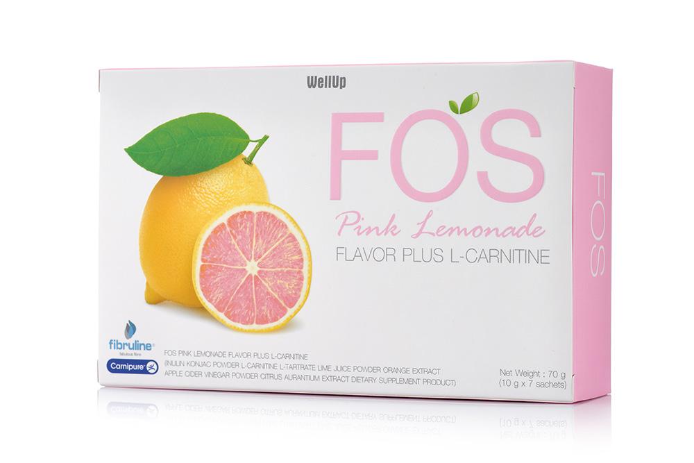 FOS Pink Lemonade Flavor Plus L-Carnitine