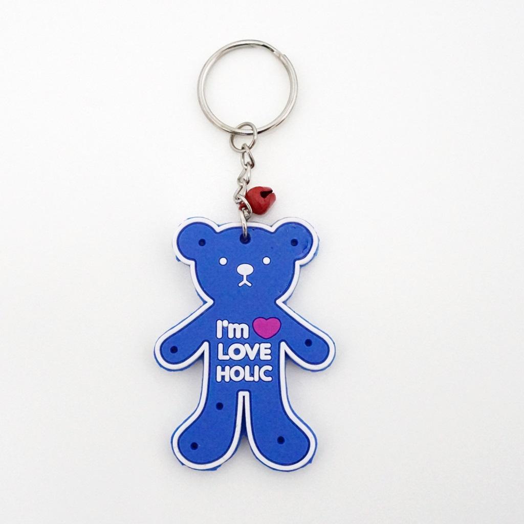 พวงกุญแจยาง คุมะสีฟ้า 12อัน
