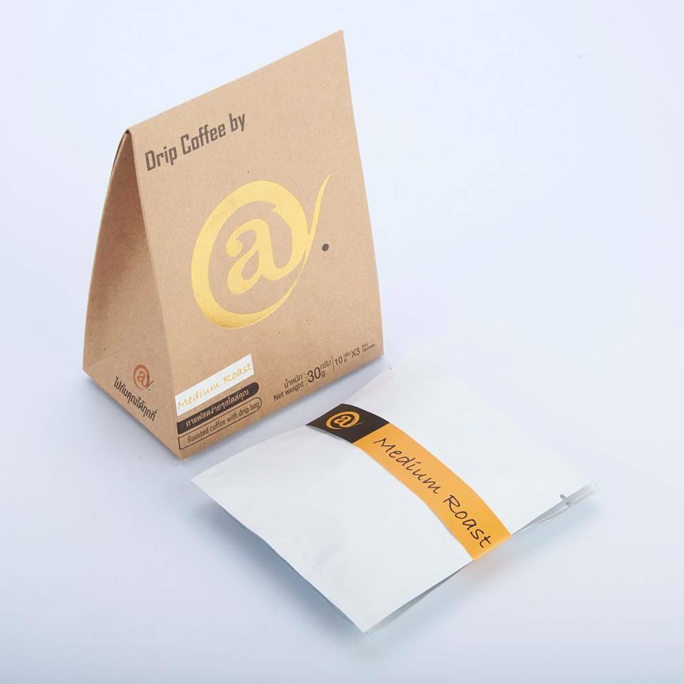 กาแฟดริป คั่วกลาง 3 x 8 g. @y Drip Coffee Medium Roast 3 x 8 g.