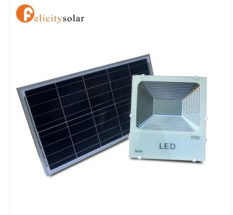 ไฟฟลัดไลท์ โซล่าเซลล์ 100W#Felicity Solar LED SMD Flood Light 100W
