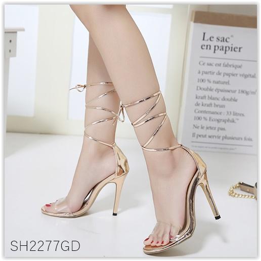 Pre รองเท้า คัทชู ส้นสูง แฟชั่น ราคาถูก มีไซด์ 35-40