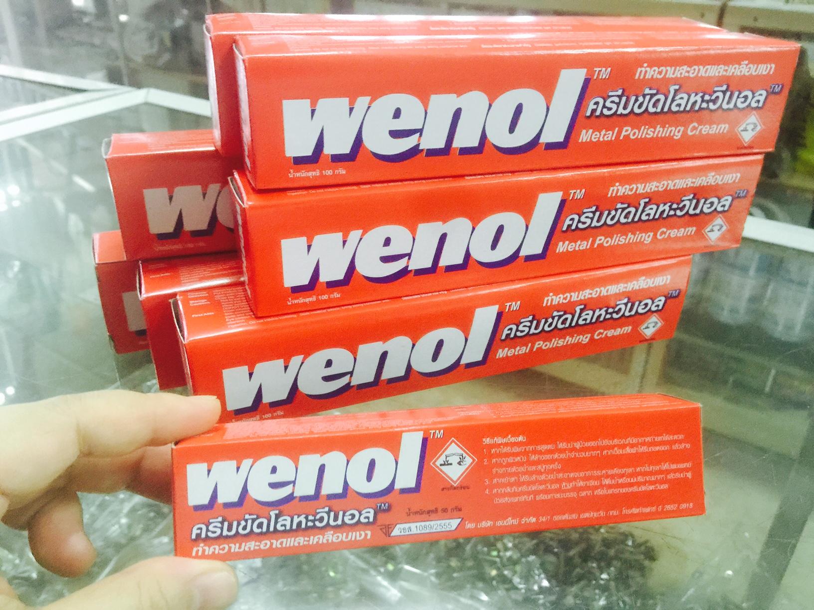 ครีมขัดโลหะวีนอล WENOL100 กรัม