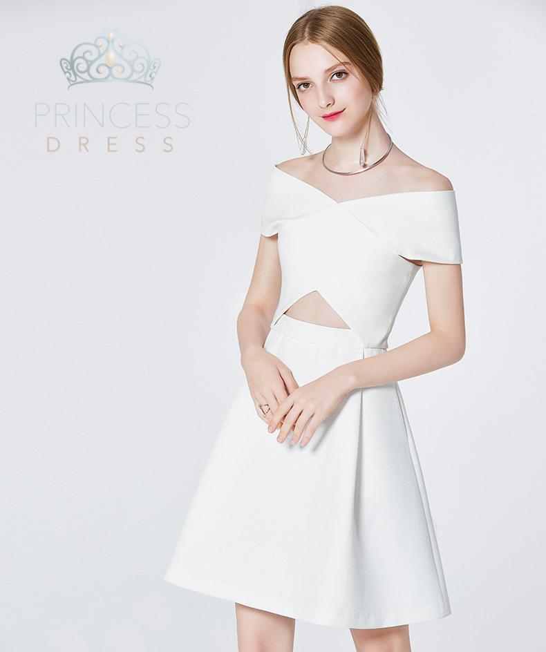 A003 Daisy White Princess Dress