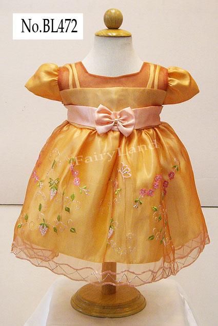 ชุดเสื้อผ้าเด็กเล็กวัยเบบี้ใส่ออกงานไปงานแต่ง BL472