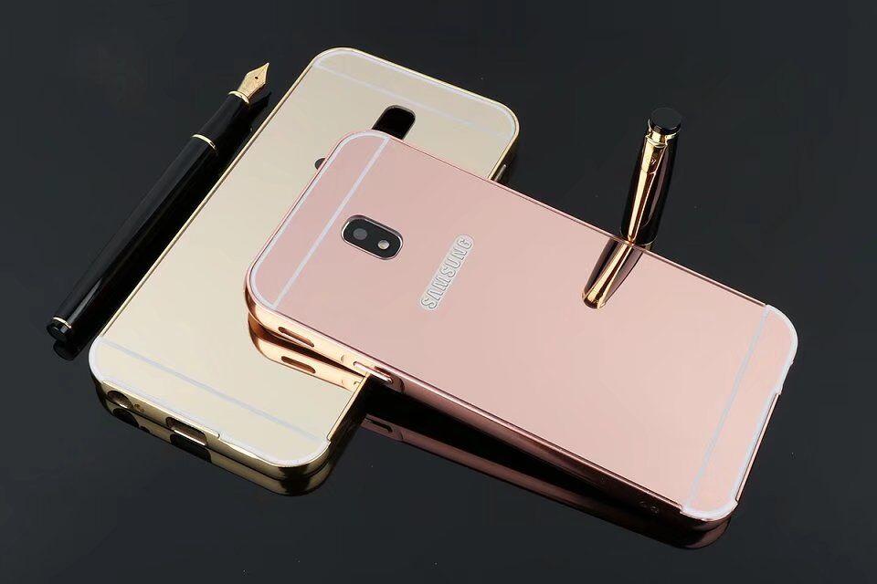 (025-601)เคสมือถือซัมซุง Case Samsung J5 Pro เคสกรอบบัมเปอร์โลหะฝาหลังอะคริลิคเคลือบเงาแวว