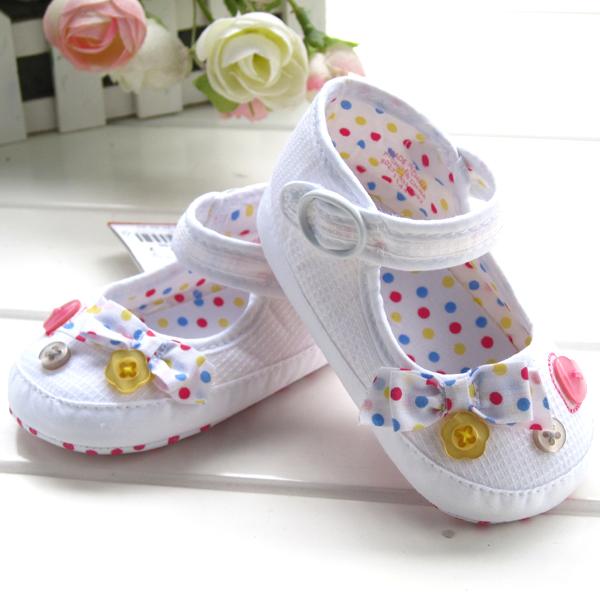 BE2039 (Pre) รองเท้าผ้า สาวน้อย (0-1 ขวบ)
