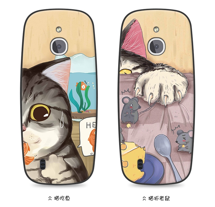 (741-002)เคสมือถือ Nokia 3310 (2017) 3G 4G เคสนิ่มลายน้องแมวหลากสไตล์
