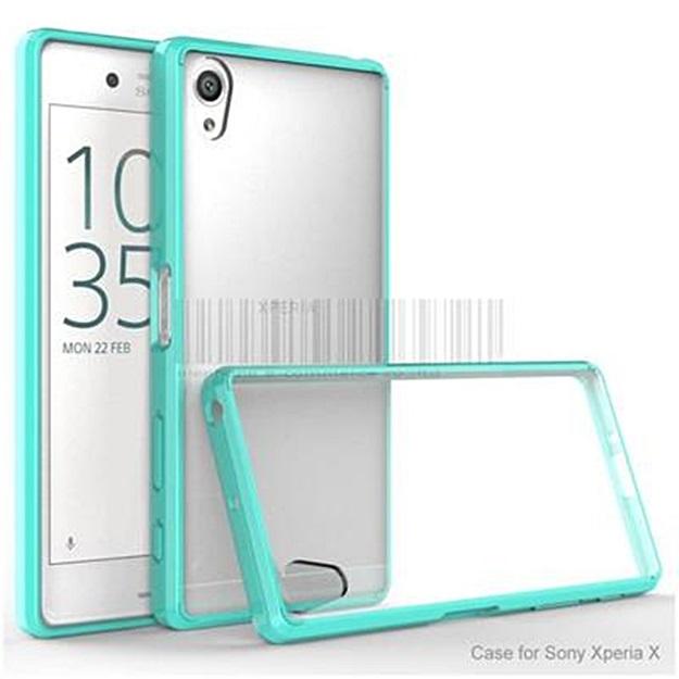 (พร้อมส่ง)เคสมือถือโซนี่ Case Sony Xperia X เคสใสอะคริลิคขอบนิ่ม