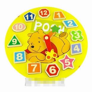 ของเล่นนาฬิกาไม้ลาย หมี Pooh