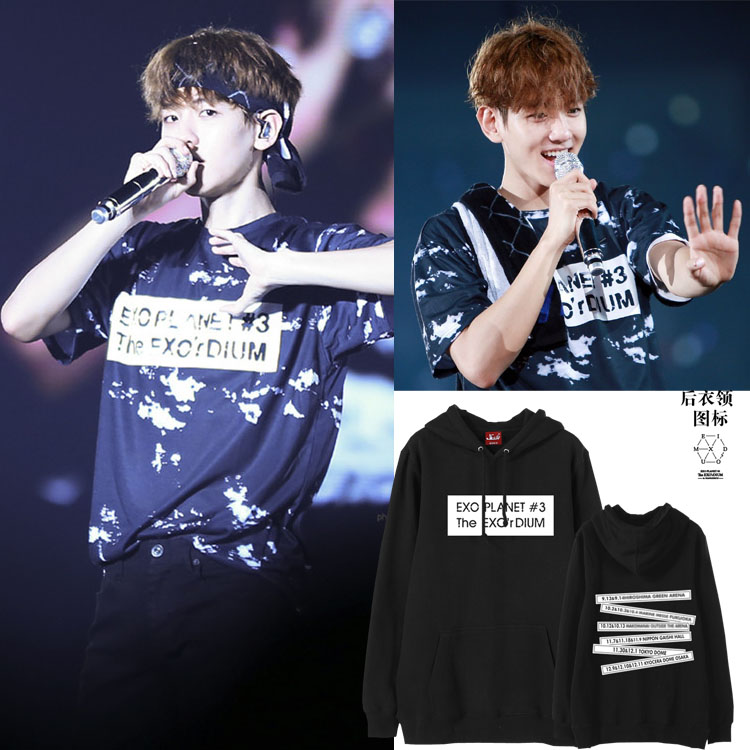 Hoodie EXO Planet#3 The EXO'rDIUM in con -ระบุไซต์/สี-