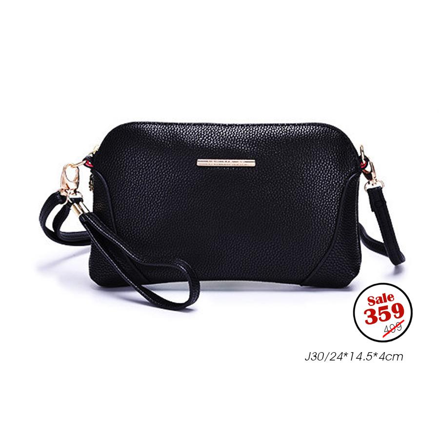 J30-กระเป๋าสะพาย สีดำ