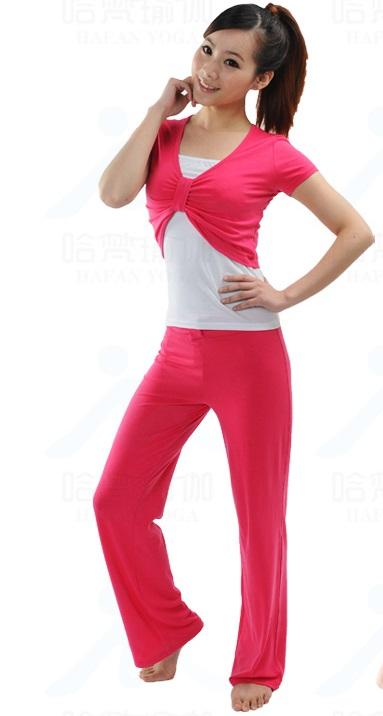 ชุดเล่นโยคะ/ชุดออกกำลังกาย/ชุดเล่นพีลาทีส สีชมพู