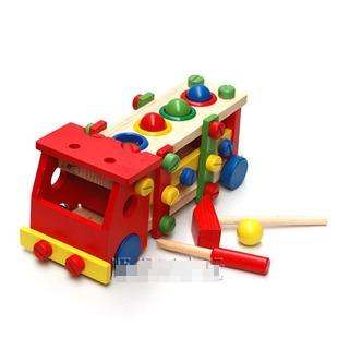 ของเล่นไม้ รถไม้ไขน็อต Intelligence Vehicle