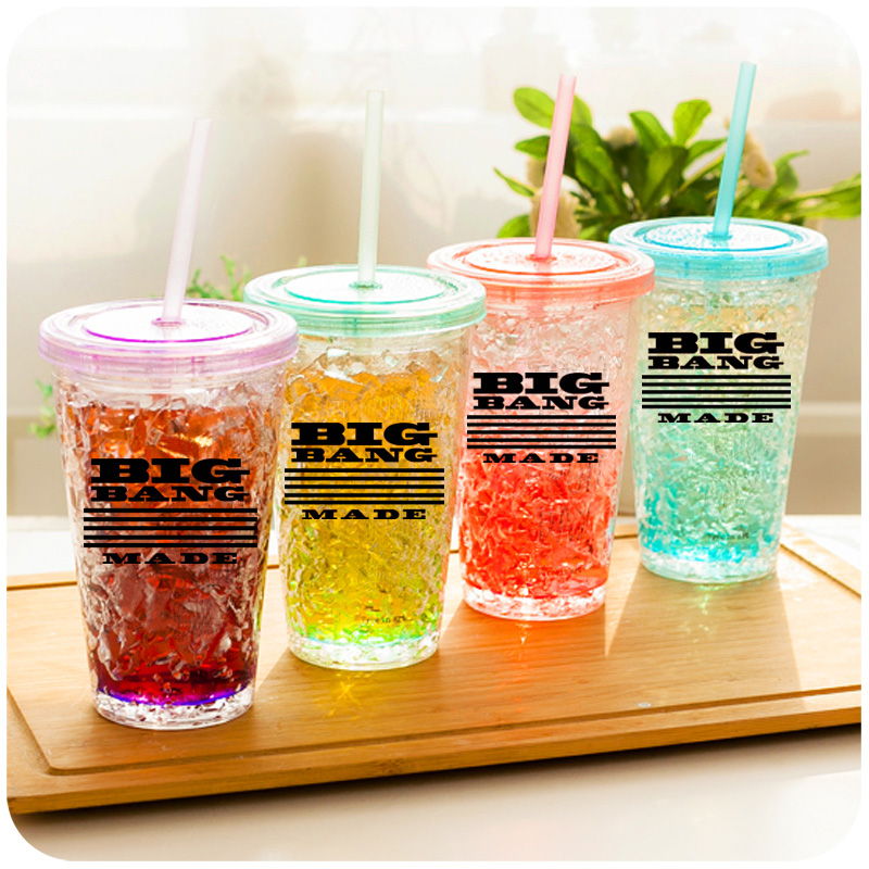 แก้วน้ำแบบมีฝาปิด BIGBANG MADE -ระบุสี-