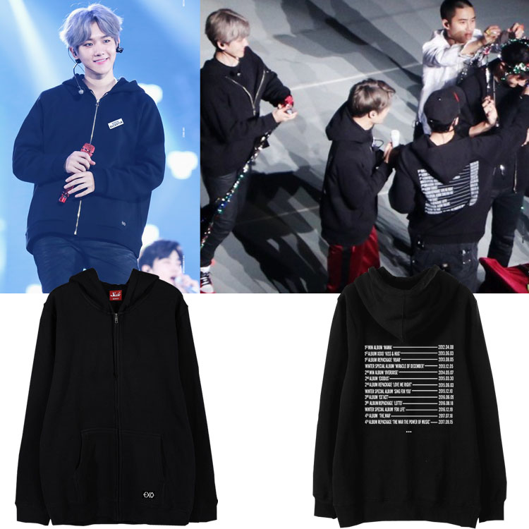 Jacket Hoodie EXO Planet#4 The EℓyXiOn in con -ระบุไซต์/สี-