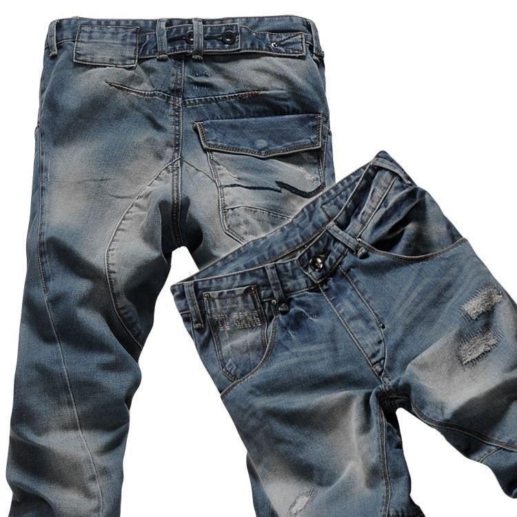 *Pre Order*กางเกงแฟชั่นชาย Denim วินเทจสีน้ำเงิน size 28-42