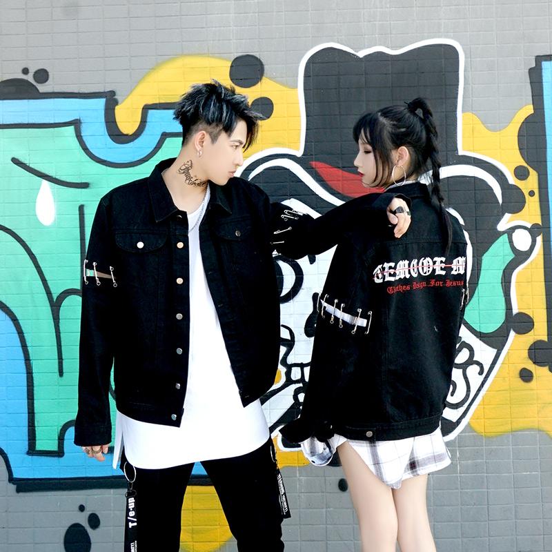 *Pre Order*Denim Jacket hip-hop แฟชั่นญี่ปุ่นชาย/หญิง size S-M-L-XL
