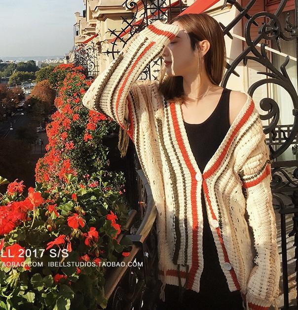 *Pre Order*เสื้อคลุมไหมพรมถัก Zhang Beibei ibel 2018 size S,M,L