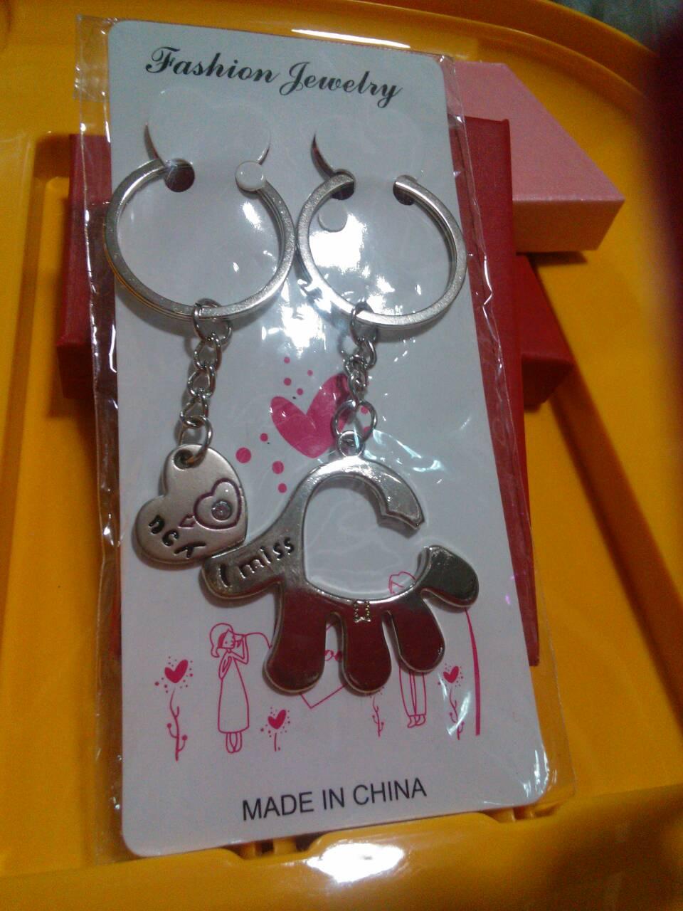 พวงกุญแจตู่รัก5 กุญแจผ่าหัวใจกลาง