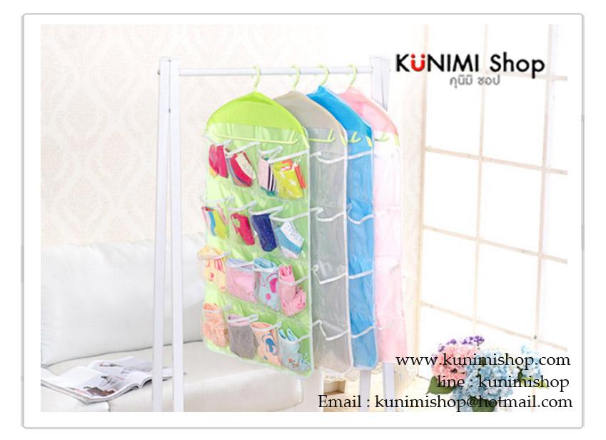 กระเป๋าเนื้อพลาสติก มีที่แขวน สามารถนำไปแขวนในที่ต่างๆได้ มีช่องใส่ของมากมาย จะแขวนในห้องนอน ตู้เสื้อผ้า ห้องทำงาน ห้องนั่งเล่น หรือห้องน้ำนอน ก็สวยเข้ากับทุกห้องคะ วัสดุ : พลาสติก ขนาด : สูง 80 x กว้าง 42 cm.