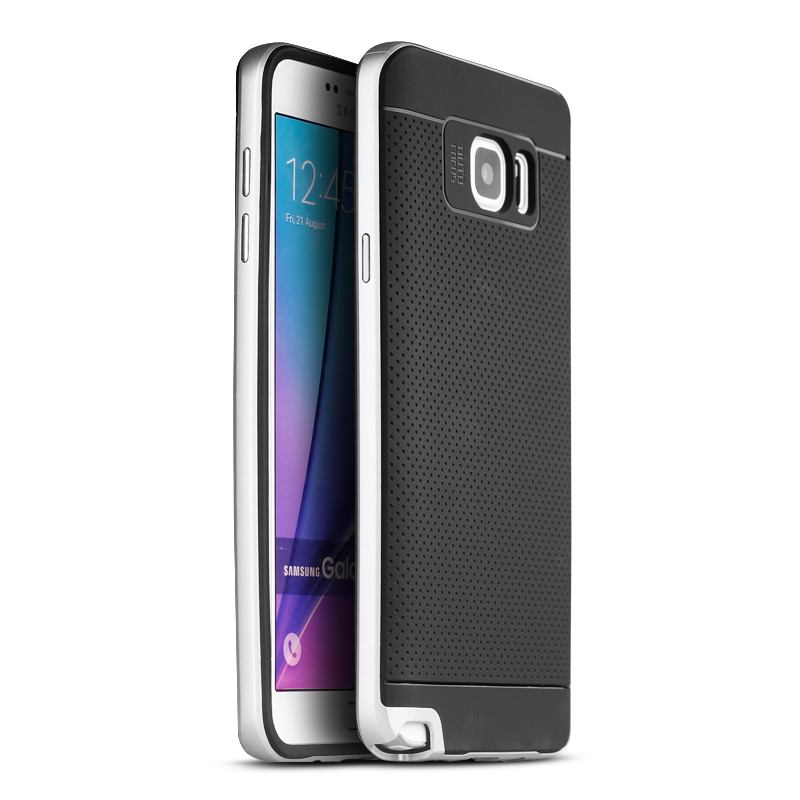 IPAKY Case Samsung Galaxy Note 5 (Silver)