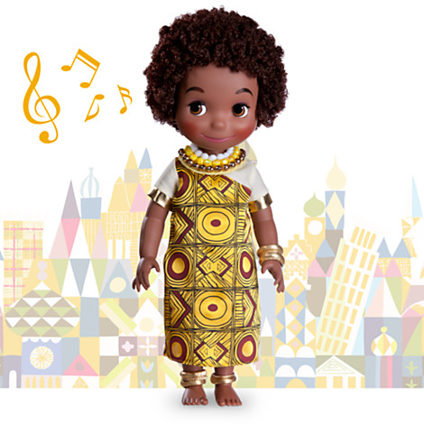 z Disney ''it's a small world'' Kenya Singing Doll - 16'' (พร้อมส่ง)