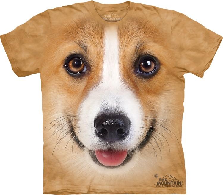 Pre.เสื้อยืดพิมพ์ลาย3D The Mountain T-shirt : Corgi