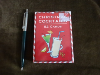 Christmas cocktails card game