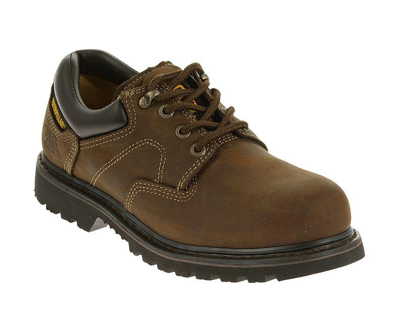 รองเท้า หัวเหล็ก CATERPILLAR Ridgemont Steel Toe Mens BROWN Work Shoe P89702 น้ำตาลสนิม รองเท้าเซฟตี้ หัวเหล็ก size 40-45