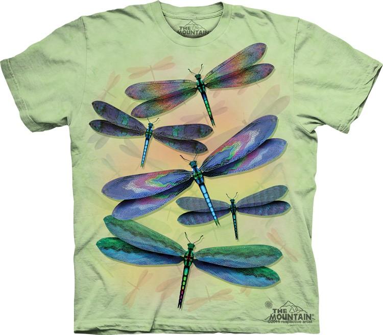 Pre.เสื้อยืดพิมพ์ลาย3D The Mountain T-shirt : Dragonfly Dance MD