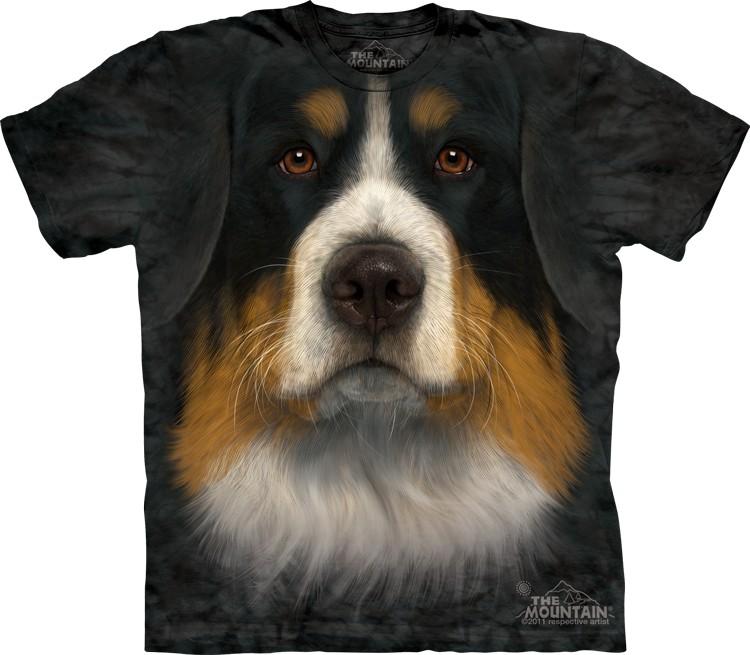 Pre.เสื้อยืดพิมพ์ลาย3D The Mountain T-shirt : Bernese Mountain Dog Face