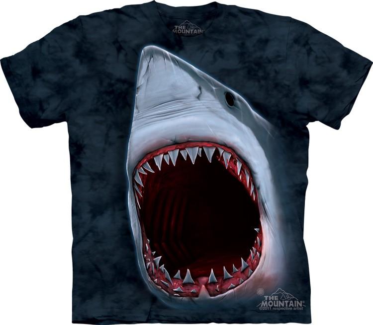 Pre.เสื้อยืดพิมพ์ลาย3D The Mountain T-shirt : Shark Bite