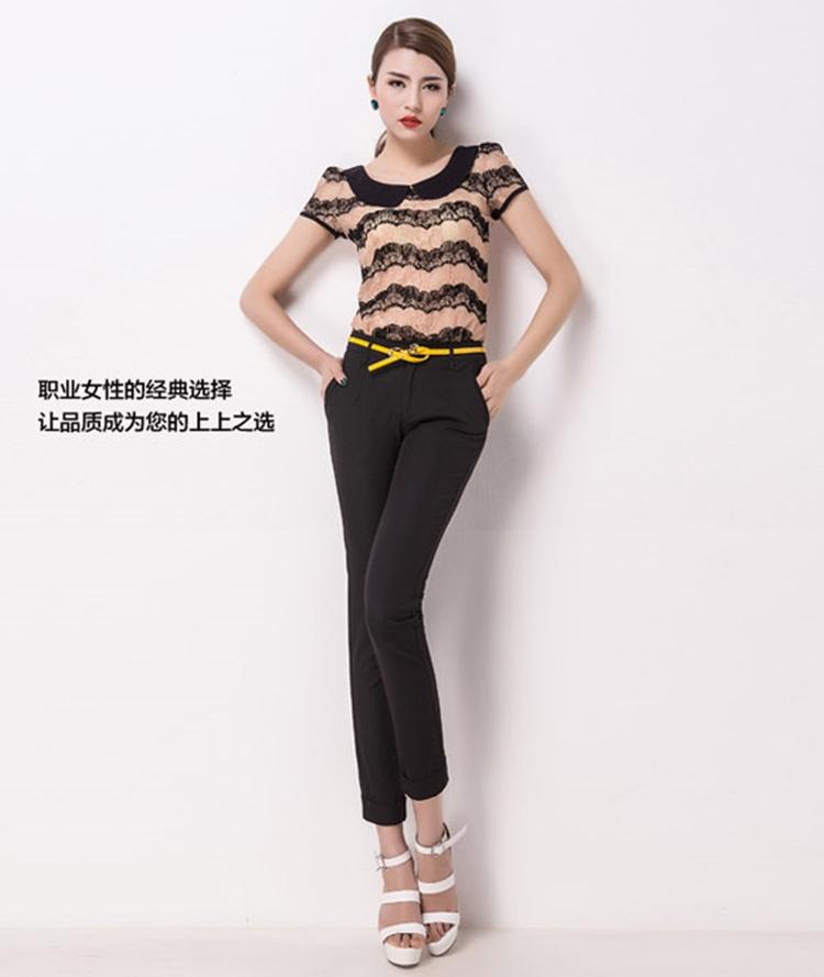 Pre-Order กางเกงทำงานผู้หญิง กางเกงสแล็ค ทรงดินสอ สีดำ