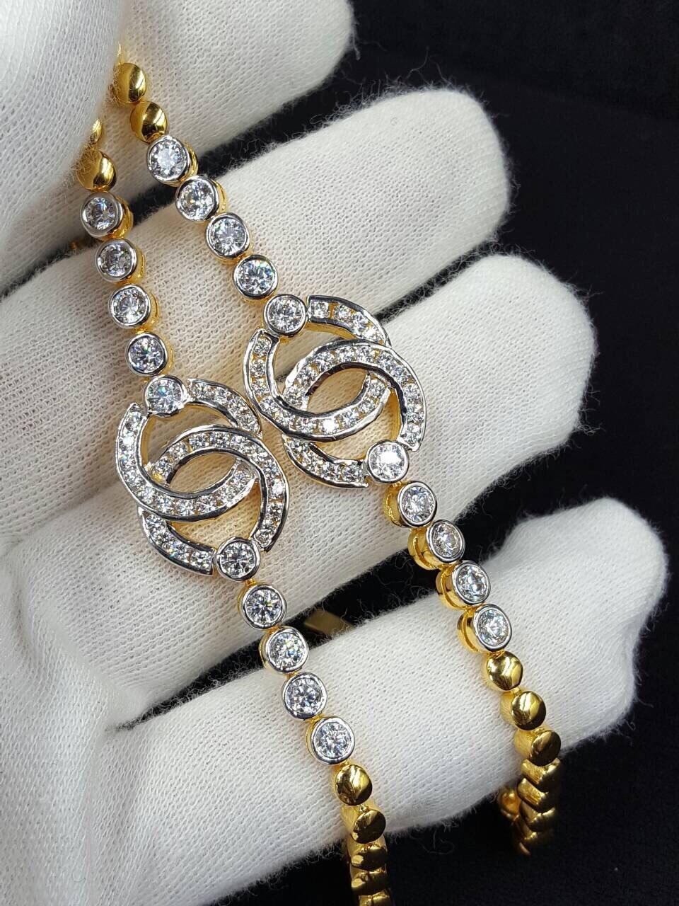พร้อมส่ง ~ สร้อยข้อมือ Chanel งานทอง 5 ไมครอน เพชรสวิสอย่างดีค่ะ