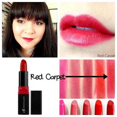 **พร้อมส่ง+ลด 70% ** ELF Studio Moisturizing Lipstick สี Red Carpet 82640