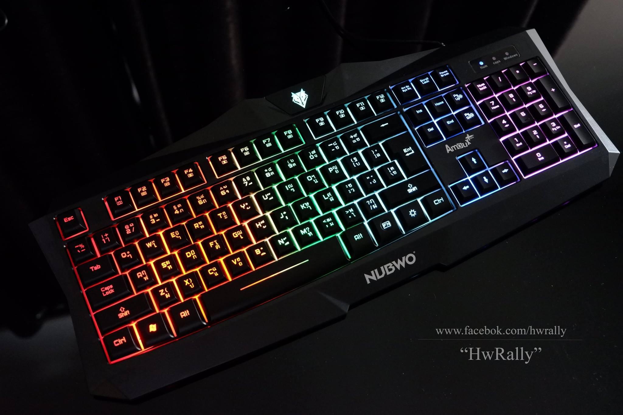 Nubwo Amoux NK-10 Gaming Keyboard LED 7 Color Backlit