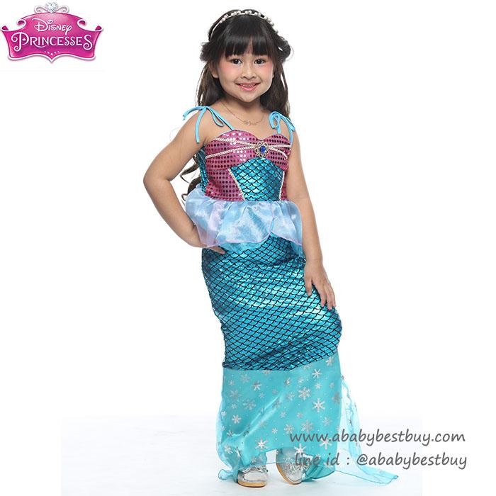 """"""" ชุดเดรส ชุดแฟนซี เจ้าหญิงแอเรียล นางเงือก Ariel จากเรื่อง Little Mermaid ชุดแฟนซีเจ้าหญิง ผ้าดี ใส่สบาย (สำหรับเด็กอายุ 3-10 ปี)"""