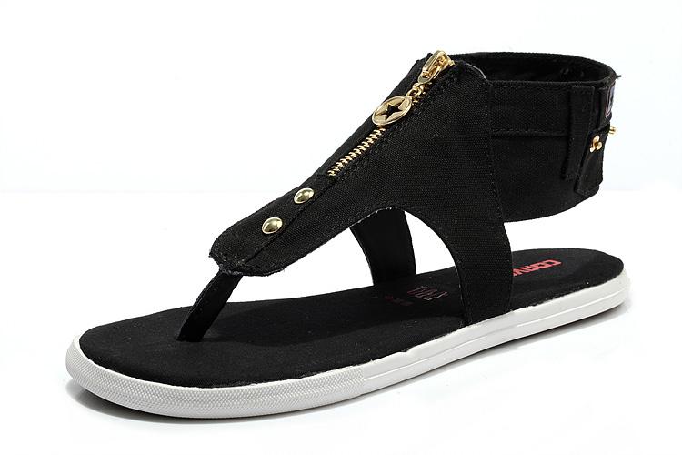 รองเท้า Black All Star Converse T-Sharp Roman Sandals Thong Zip Jeans Style Size 36-40 พร้อมกล่อง