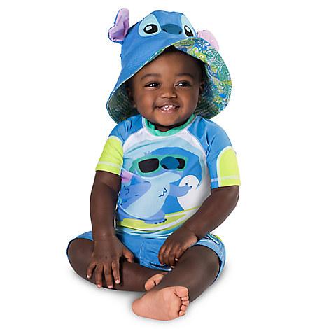 * Stitch Rash Guard for Baby from Disney USA ของแท้100% นำเข้า จากอเมริกา