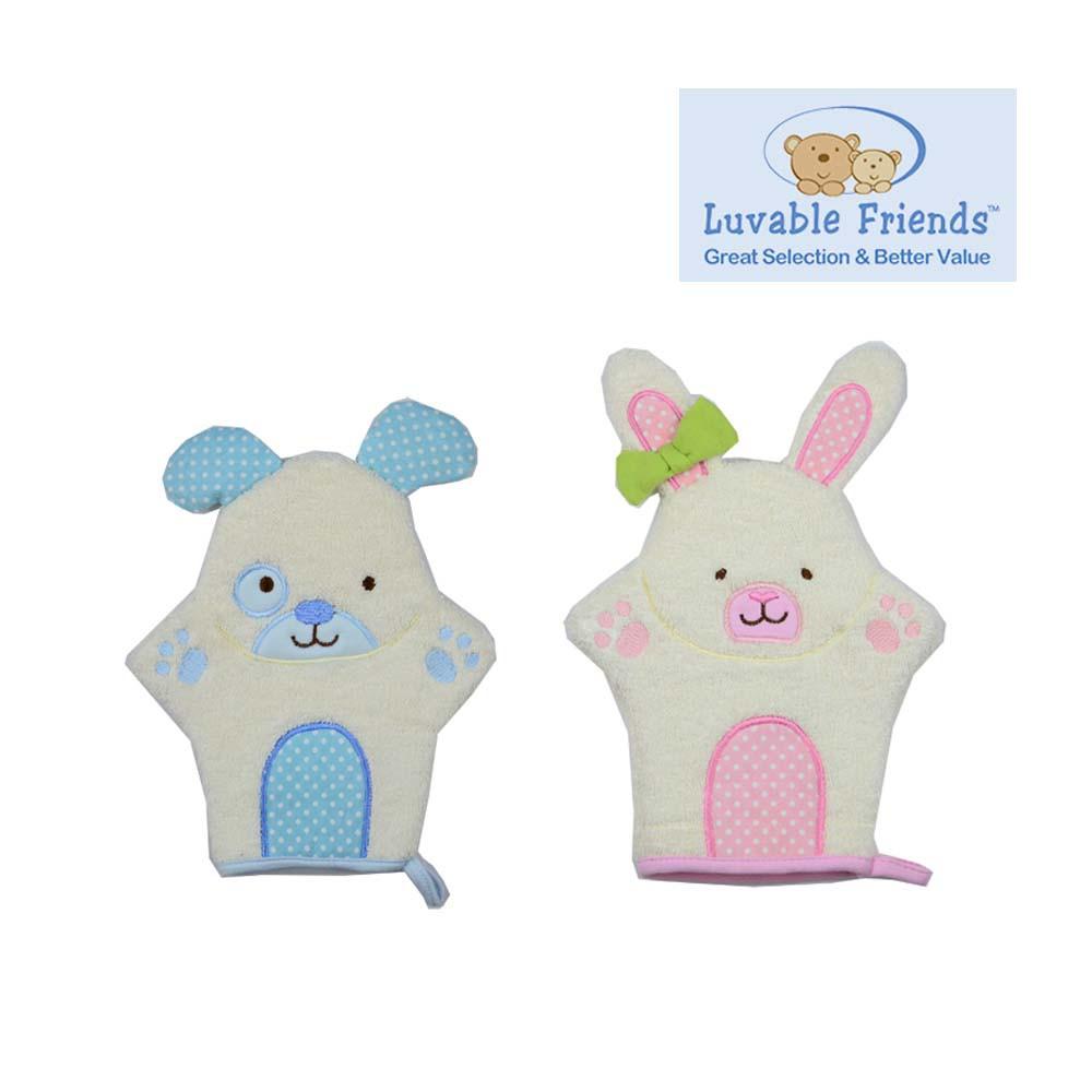 Luvable Friends ถุงมือขัดตัว เนื่อผ้าขนหนู มี 2 สี