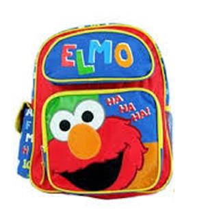 z Backpack Sesame Street Elmo Toddler 12 Inches Medium sized เซซามี่ สตีท กระเป๋าเป้ กระเป๋าสะพายน่ารัก ของแท้ นำเข้าจากอเมริกา